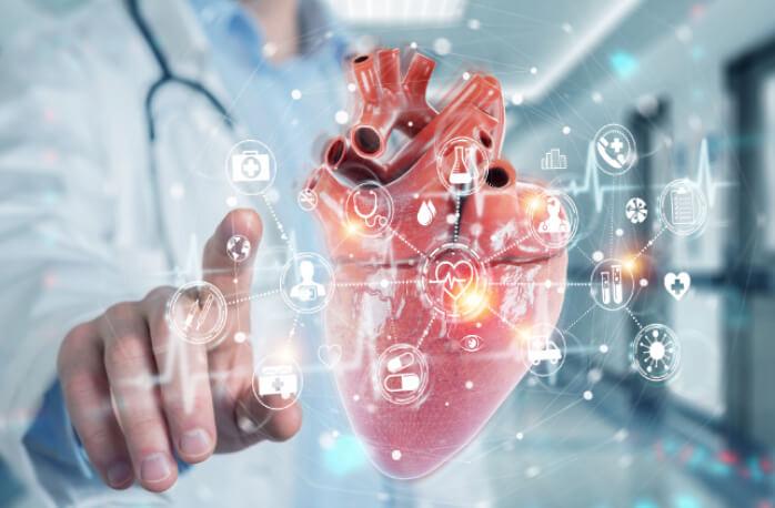 Digital Heart electrified visually